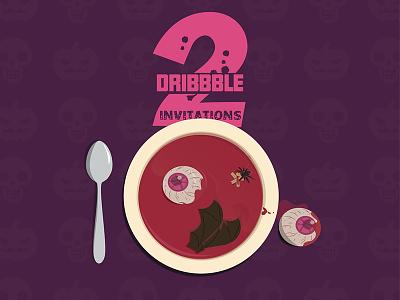 2 Dribbble invitation invites invite invitation invit dribbble