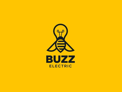 Electric Fly Logo Design yellow minimal trendy logotypes flat art bulb fly icon vector branding graphics design illustration logo designer logo brand identity brand logotype