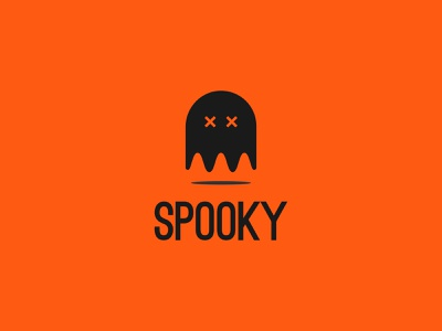 Spooky Logo Design halloween party halloween design flat web ux ui art icon vector brand logotype brand identity graphics logo concept halloween ghost dribbbleweeklywarmup spooky
