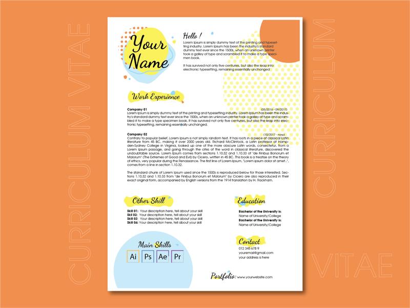 CV Template Design cv resume template cv template cv resume cv design cv clean