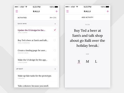 Go Ralli pink type ios tasks to do