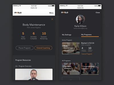 Mazlo Program Design concept throwback content education dark mobile responsive