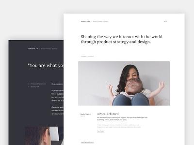 Portfolio typography flexbox dark light simple clean portfolio