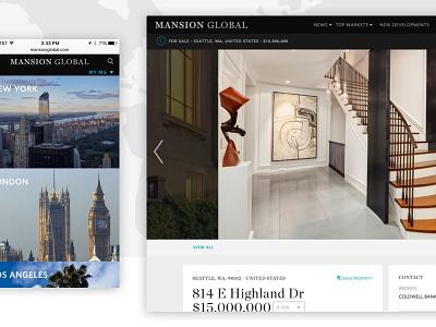 Mansion Global responsive editorial real estate
