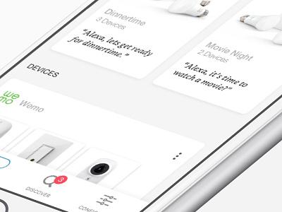 Alexa Device List clean card ui iot alexa