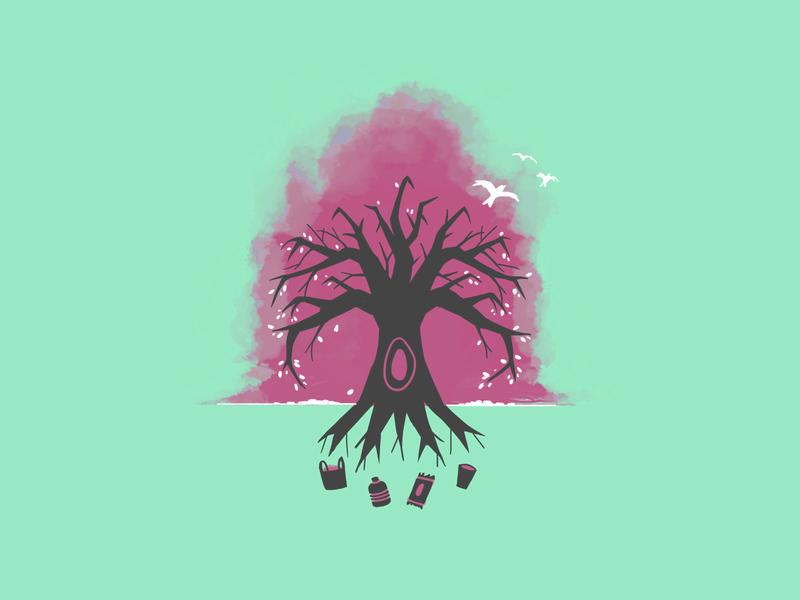 Skull Tree pollution vector illustration environmental environment vector illustration digital illustration design illustration art illustration