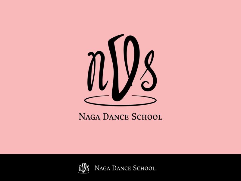Naga Dance School Logo lettermark logo design logodesign logo