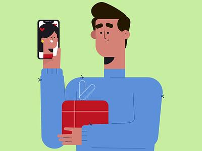 EMOTIONS рисунок vector love girl boy illustration