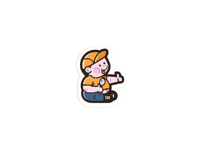 Lets eat !! fat eat simple character modern mascot logo vector illustration cute art cute