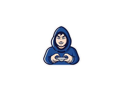 Gamer Logo playstation xbox controller gamer logo console gamers gamer modern flat simple mascot design character vector illustration