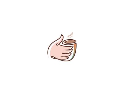 Meekcoffee beverage roaster drink mug hand logo design logo brew coffee