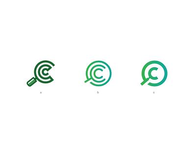 compare club logo project club compare cc simple mark logo icon green gradient