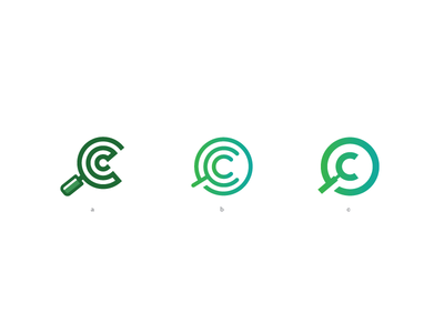 compare club logo project club compare cc simple mark logo icon green gradient