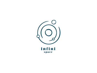 Infini Space minimal design simple logo outerspace space infinit infinity