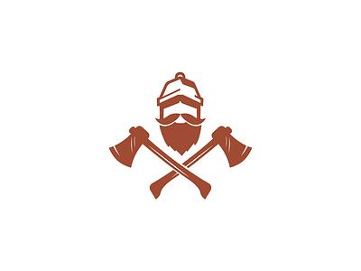 carpenter beard illustration mascot vector character simple carpenter logo wood woodman