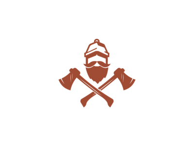 carpenter beard illustration mascot vector character simple carpenter logo wood woodman