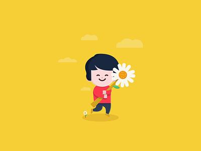 Dayday modern design mascot character flat vector illustration simple cute