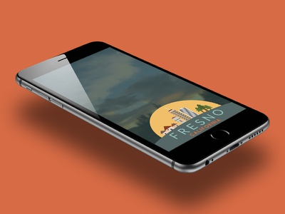Fresno, CA Snapchat Filter flat illustration flat design flat california fresno design illustration ios android iphone filter snapchat
