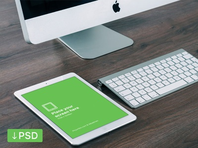 iPad Air PSD template download template psd photoshop photorealistic mock-up mockup ipad ios high-resolution free apple