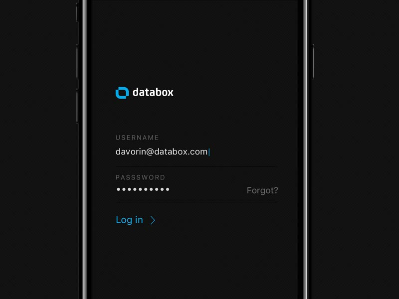 Databox login 800 600