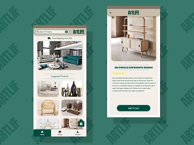 Home Decor App web app ux ui design