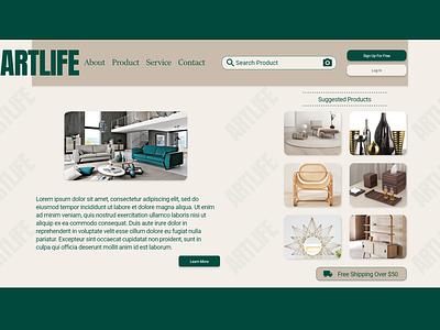 ARTLIFE WEBDESIGN app logo website branding web graphic design minimal ux ui design