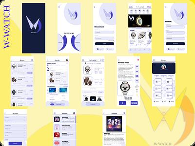 W Watch minimal icon graphic design branding web logo app ux ui design