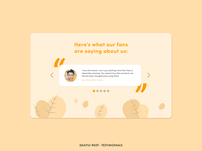 DailyUI #039 - Testimonials natural ratings feedback carousel slider comments landing page skincare beauty reviews review testimonials testimonial adobe xd interface minimal design ux ui dailyui
