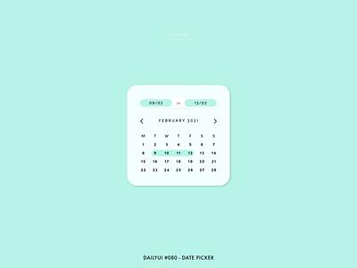 Daily UI #080 - Date Picker pastel challenge 080 datepicker date picker date picker dates planner calendar interaction app digital adobe xd interface minimal dailyui design ux ui