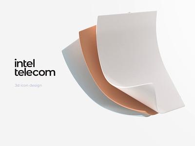 Inteltelecom — 3d animated illustration for web site motion motion design 3d animation colors ui website 3d 3d illustration illustraion