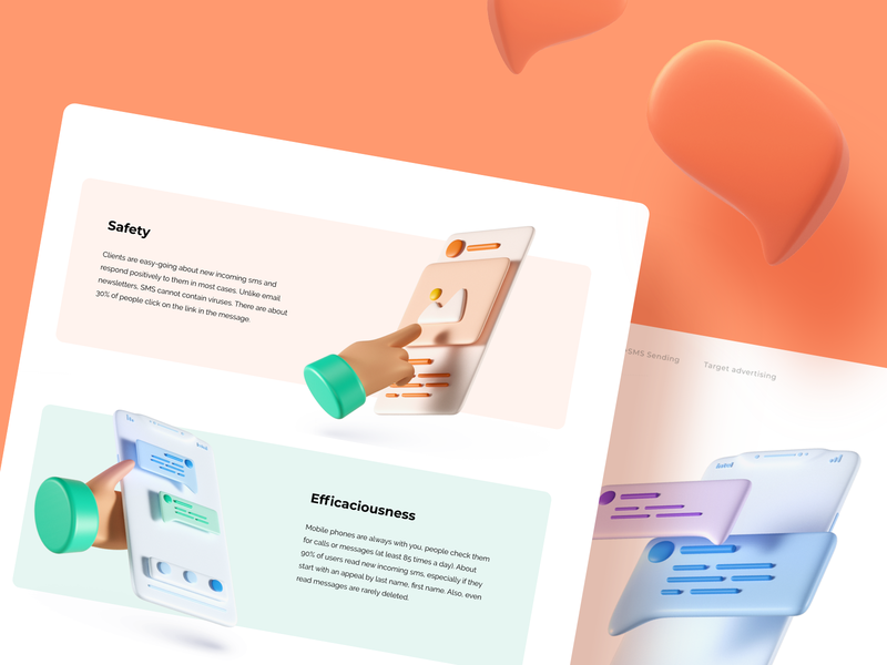 Landing page - Inteltelecom branding art typography interface colors graphic design user interface ux ui design illustraion 3d ilustration 3d web design web landingpage website