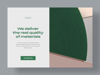 Landing page — Fabr cinema4d abstract portfolio interface uxui ui design hero section ui landing page landing web design web typography motion motion design 3d motion 3d animation 3d illustration 3d