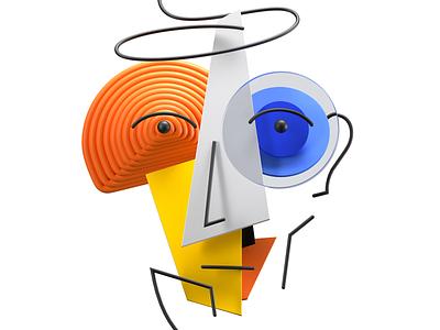 Fractal face NFT art direction 3d artist 3d illustration 3d art design colors 3d illustration cryptoart nfts nft