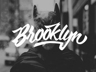 Brooklyn identity font calligraphy typeface brush hand draw graphic design vector type logo design lettering