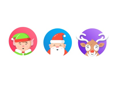 New Year Characters illustrator new year colors flat art ui ux ios illustration character