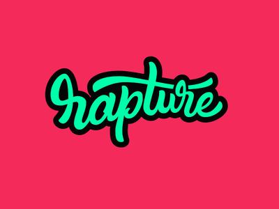 Rapture Lettering  identity branding illustration flat tubik letter word typography colors lettering