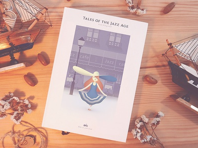 Tales of the Jazz Age Book Cover vintage flat character cover book jazz colors illustration