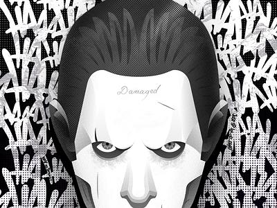 Suicide Squad Poster - JOKER batman vector tubik flat colors comics dc joker illustration poster