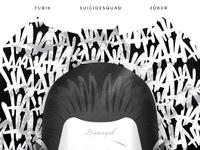 1 bw 150dpi attachment joker dribble tubik studio poster jocker illustration comics