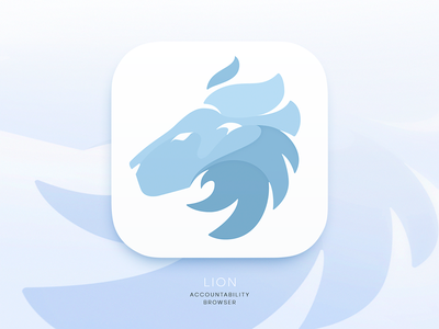 Lion Browser Icon identity browser tubik colors branding ios application app lion logo icon