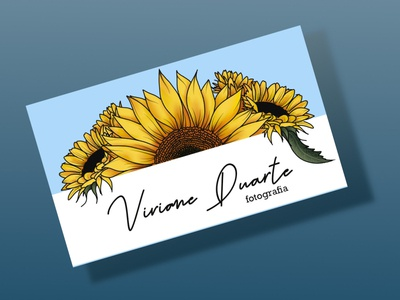 Business Card sunflowers business cards businesscard illustration