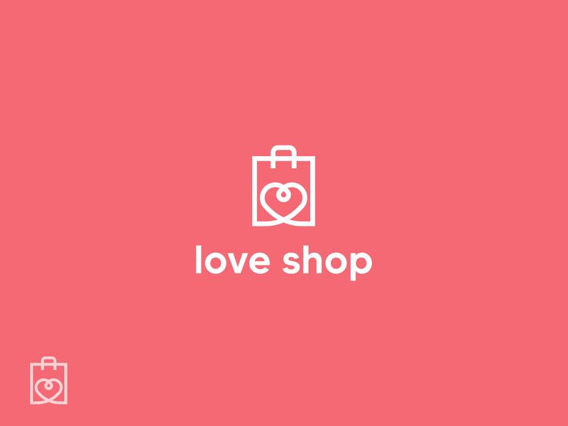 love shop branding illustrations branding design illustrator illustration logo designs brand design logodesigner logo design logo design branding logodesign logos logo