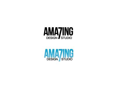Amazing 7 Design Studio logo design brand studio seven 7 number gradient client