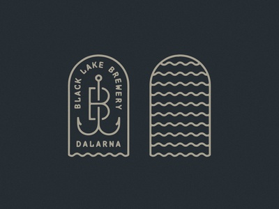 Black Lake Brewery Logo Dribbble lake water tombstone tomb fishing rod fishing fish hook waves brand branding logo design beer logo badge hunting badgedesign badge logo badge brewery logo brewery