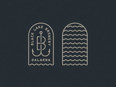 Black Lake Brewery Logo Dribbble lake water tombstone tomb fishing rod fishing fish hook waves brand branding logo design beer logo badge hunting badgedesign badge logo badge brewery logo brewery