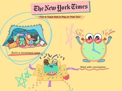 Spot illustrations for NYTimes vibrant illustration digital illustration digitalart the new york times nytimes magazine illustration parenting kids illustration editorial illustration editorial layout editorial illustration cute illustration colors colorful