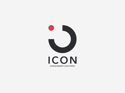 Icon - Containment Solutions luxurious black typography design brand-mark modern sophisticated identity branding creative balance graphic design aesthetic logo-design logo