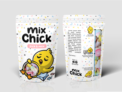 Packaging Design playful chicken candies vector sweet tooth sweets gummy candy packagingdesign packaging