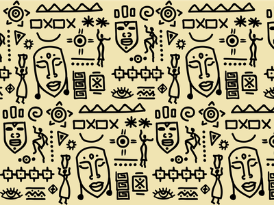 Pattern Design hand drawn ethnic africa pattern design pattern art