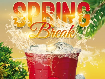 Spring Break Party Flyer By Andrea Maisenbacher  Dribbble